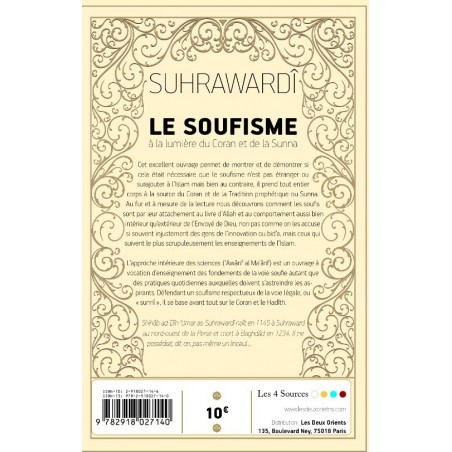 Le Soufisme a la lumiere du Coran et de la Sunna, Suhrawardi, Tr. Idris Devos
