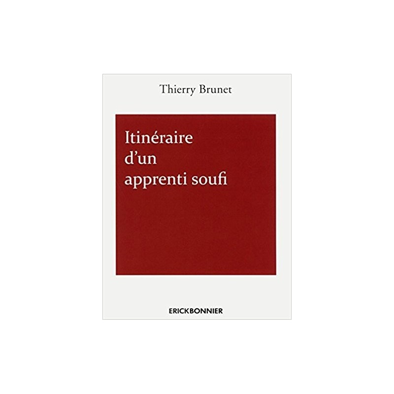 Itinéraire d'un apprenti soufi par Thierry Brunet