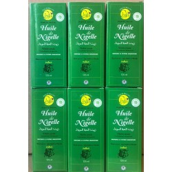 6 X Huile de nigelle (habba-sawda,cumin noir,black seed) 125ml