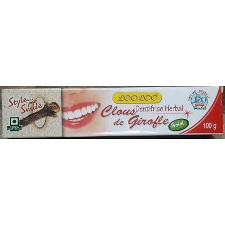 Dentifrice aux clous de girofle , qualité extra naturelle 100 g
