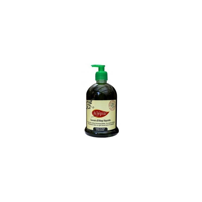 Savon d'Alep liquide 300 ml enrichi a 15% d'huile de baie de laurier